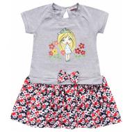 020-99704 Платье для девочки, 2-6 лет, меланжевый