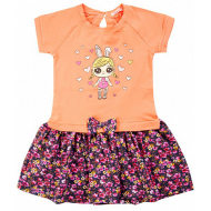 020-99702 Платье для девочки, 2-6 лет, коралловый