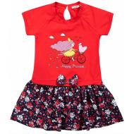 020-99701 Платье для девочки, 2-6 лет, красный