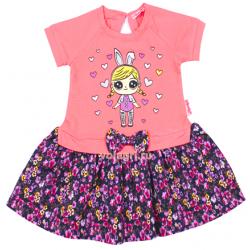 20-99702 Платье для девочки, 2-6 лет, коралловый