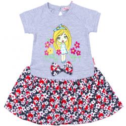 20-99704 Платье для девочки, 2-6 лет, серый