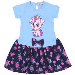 20-99705 Платье для девочки, 2-6 лет, св-голубой