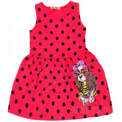 220-117205 Платье для девочки, 3-7 лет, т-розовый