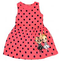 20-117203 Платье для девочки, 3-7 лет, лососевый