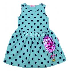 220-117204 Платье для девочки, 3-7 лет, бирюзовый