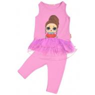 45-11834 Комплект для девочек с лосинами, 2-5 лет, розовый