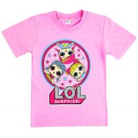45-140286 Футболка для девочки, 1-4 года, розовый