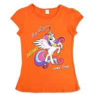 45-480291 Футболка для девочки, 4-8 лет, оранжевый