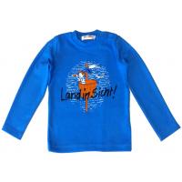 "01-1450 ""Land in Sicht"" Лонгслив для мальчика, интерлок 86-104, голубой"
