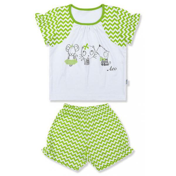 """0339 ЛЕО Комплект домашний для девочки """"Подружки"""" (футболка+шортики)"""