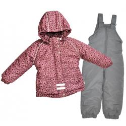 Комплект для девочки, куртка (мех)+ полукомбинезон