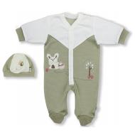 """1567-3 """"Лесная прогулка"""" Комплект для малышей, оливковый"""