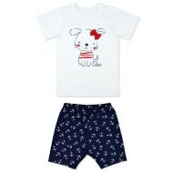 """1905 """"Собачка"""" Комплект для девочки (футболка+лосины)"""