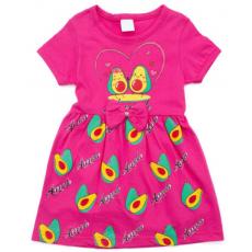 """22-250601-2 """"Авакадо"""" Платье для девочки,  т-розовый"""