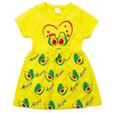 """22-250601-4 """"Авакадо"""" Платье для девочки, желтый"""