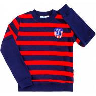 08-581105 Джемпер в полоску для мальчика, 5-8 лет, синий