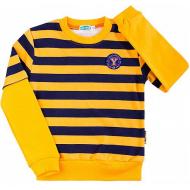 08-581101 Джемпер в полоску для мальчика, 5-8 лет, оранжевый
