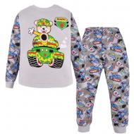 100-148101 Пижама для мальчика, интерлок, 1-4 года, серый