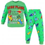 100-148103 Пижама для мальчика, интерлок, 1-4 года, салатовый