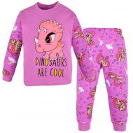 100-148202 Пижама для девочки, интерлок, 1-4 года, фиолетовый