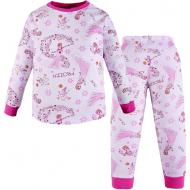 100-3780207 Пижама для девочки, интерлок, 3-7 лет