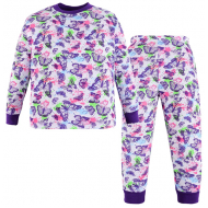 100-3780208 Пижама для девочки, интерлок, 3-7 лет