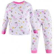 100-3780209 Пижама для девочки, интерлок, 3-7 лет