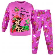 100-588204 Пижама для девочки, супрем, 5-8 лет, лиловый