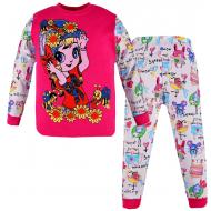 100-588205 Пижама для девочки, супрем, 5-8 лет, фуксия