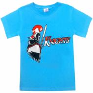 """15-590102 """"Рыцарь"""" футболка для мальчиков 5-9 лет, бирюза"""