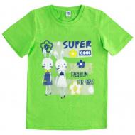 """15-590201 """"Super Cool"""" футболка для девочек 5-9 лет, салатовый"""