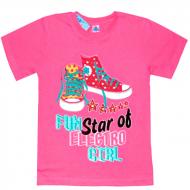 """15-9130201 """"Fun Star"""" футболка для девочек 9-13 лет, розовый"""