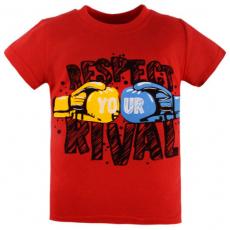 47-140102-8 Футболка для мальчика, 1-4 года, красный