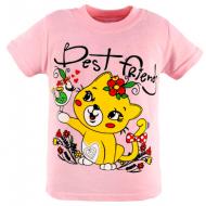 47-580201-14 Футболка для девочки, 5-8 лет, розовый