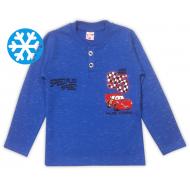 47-141212 Джемпер-поло утепленный для мальчика, 1-4 лет, синий