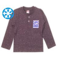 47-141213 Джемпер-поло утепленный для мальчика, 1-4 лет, серый
