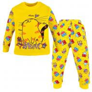 47-148214 Пижама для девочки, супрем, 1-4 года, желтый