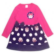 """47-2569801 """"Милашка"""" Платье для девочки, малиновый"""