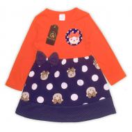 """47-25690608 """"Милашка"""" Платье для девочки, морковный"""