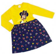 """47-25690612 """"Минни"""" Платье для девочки, желтый"""