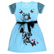 """47-2569822 """"Girls Rule"""" Платье для девочки 2-5 лет, бирюзовый"""