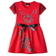 """47-2569823 """"Girls Rule"""" Платье для девочки 2-5 лет, рубин"""