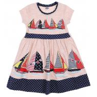 """47-258202-1 """"Boat trip"""" Платье для девочки 2-5 лет, синий"""