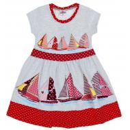 """47-258202-2 """"Boat trip"""" Платье для девочки 2-5 лет, красный"""