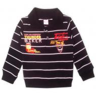 47-261201  Джемпер-поло в полоску для мальчика, 2-6 лет, черный