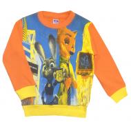 47-371135 Свитшот детский 3D, 3-7 лет, оранж