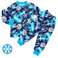 47-378112 Пижама утепленная для мальчика, 3-7 лет