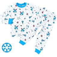 47-378113 Пижама утепленная для мальчика, 3-7 лет
