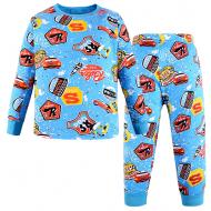 47-378118 Пижама для мальчика, 3-7 лет, голубой