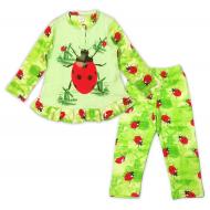 47-378202 Пижама для девочки, 3-7 лет, салатовый